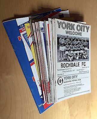 YORK CITY FC : 1977 - 1987 x 26 home programmes  all listed no duplicates