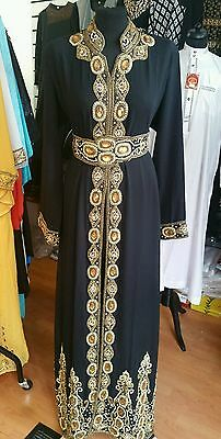 Islamic Dubai Farasha Abaya black color, size XXL