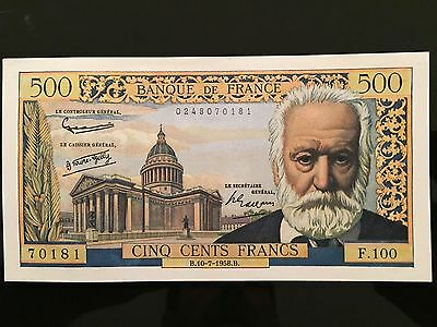 BILLET 500 Francs Victor Hugo Type 1953 -10.07.1958 - PN