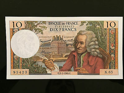 BILLET 10 Francs Voltaire Type 1963 - 2.1.1964 - PN