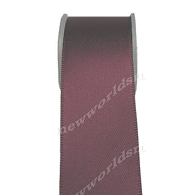 "10y 18mm 3/4"" Burgundy Premium Double Sided Satin Ribbon Eco Holiday FREE PP"