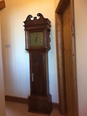 Richard Baber of Backwell Engraved Brass Face 30 hr Grand Father Clock