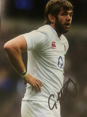 Geoff Parling Signed England Rugby 12 X 8 Photo
