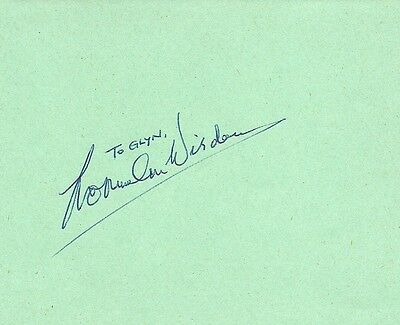 Norman Wisdom Hand Signed Album Page