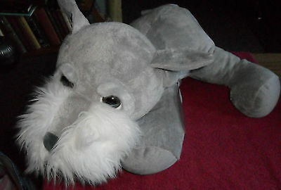 Jumbo Sized Russ Berrie Dudley Terrier Dog Plush Soft Cuddly Toy Free Uk P&p