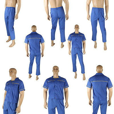 Mens Womens Workwear Mechanic Electrician Overalls Suit Work Trousers Coat Pants