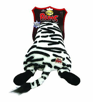 Silly Bums Dog Squeaky Crinkly Toy - Zebra