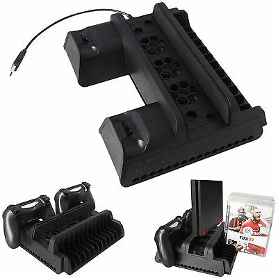 P4-882 Vertical Cooling Dock Multi-functional ABS Bracket For PS4 Slim PS4 Pro