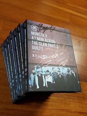Monsta X autographed The Clan 2.5 Part.2 PROMO CD signed 4th Mini Album