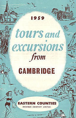 Eastern Counties 1959 Booklet Tours & Excursions From Cambridge