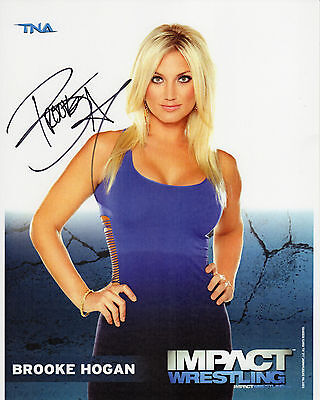 Brooke Hogan Tna Signed Photo Wrestling Promo Wwe Hulk