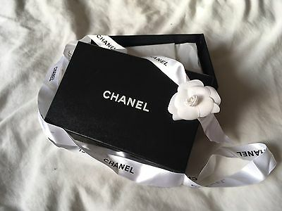 Genuine CHANEL Gift Or Storage Box With Ribbon And Tissue Paper