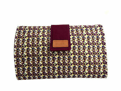 Baby Change mat/clutch with pocket Handmade by Tess & Rae, laminate/cotton