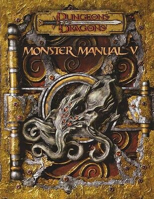 MONSTER MANUAL 5 V D&D 3.5  in inglese Dungeons & Dragons manuale dei mostri