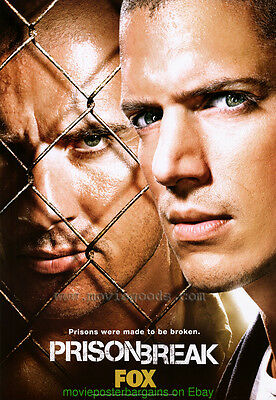 PRISON BREAK 27x40 UltraRARE Original TV SERIES PROMO Movie Poster OneSheet Size