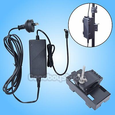15V 1.5A 5.5mm Jack AC Power Adapter with Stand Holder Clamp for LED Video Light
