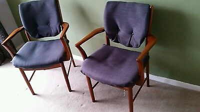 mid century vintage  dining carver chairs