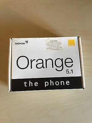 Vintage Nokia Orange 5.1 Mobile Phone. Comes With Original Box And Charger
