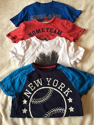 Boys 4 x T-shirt Bundle - Suitable For Age 7 Years
