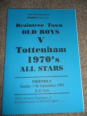 Braintree Town Old Boys Football Programme- 1995.