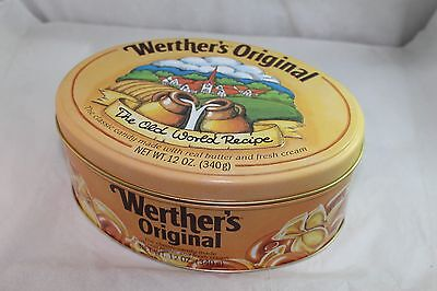 Werther's Original Lot Of 2 Collectible Candy Tins Used Nice Condition