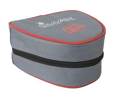 Imax Fixed Spool Reel Case FR (Grey/Red) Free Post Sea Reel Case- 53704
