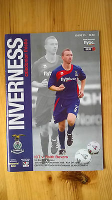 INVERNESS CALEDONIAN THISTLE v RAITH ROVERS – 12.12.09 – PROGRAMME