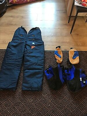 STIHL safety chainsaw trousers, gloves and boot covers