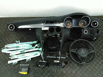2015 Mercedes C Class W205 Airbag Set With Dash, Drivers Airbag, Steering Wheel