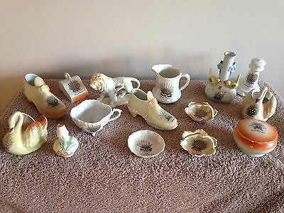 Collectable Job Lot Of  14 Vintage 'Lucky Heather' China Ornaments