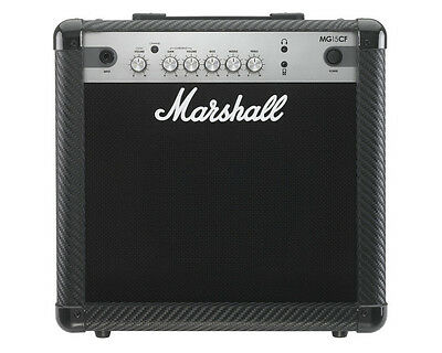 Marshall MG15CF 15w Combo Carbon Fibre Finish Electric Guitar Amplifier MG 15 CF