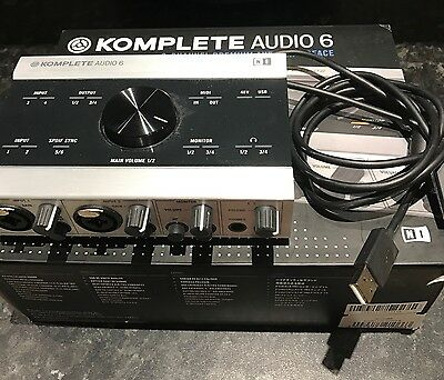 Native Instruments Komplete Audio 6 Audio Interface USB MIDI
