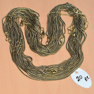 Wholesale 20Pc Solid Brass Plain Nice Long Chain Necklace Jewelry Lot L-20""