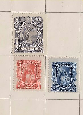 Ls109   Mint Stamps From Honduras On An Old Album Page