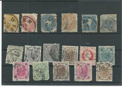 Trade Price Stamps Early Austria On Stockcard