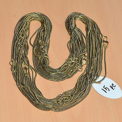 Wholesale 15Pc Solid Brass Plain Nice Long Chain Necklace Jewelry Lot L-18