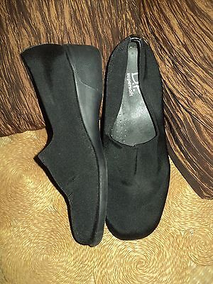 Df Supersoft Diana Ferrari Black Stretch Low Wedge Work Shoes - Size 8 Near New
