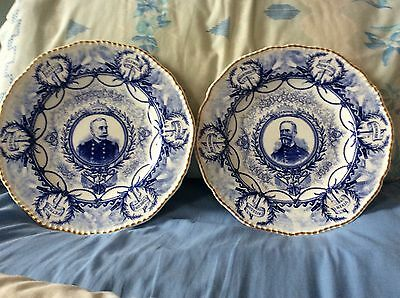 Pair of plates for 1898 Spanish - American War (Cuba & Phillipines)