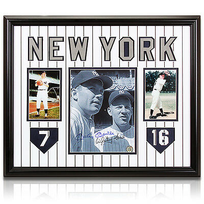 """Mickey Mantle Whitey Ford Autographed Large Framed Photo """"classic Heroes"""" #7 #16"""