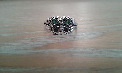 South Western Silver Butterfly Ring size (P)
