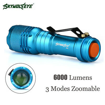 6000LM Cree Q5 AA/14500 3 Modes ZOOMABLE LED Flashlight Torch Lamp Super Bright