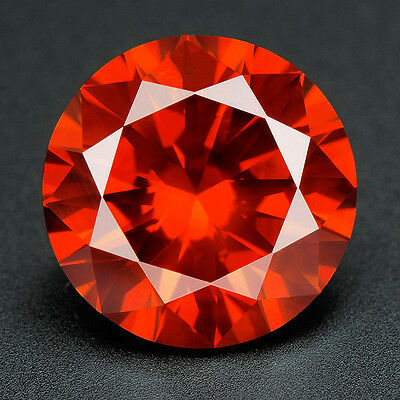 BUY CERTIFIED .083 cts. Round Vivid Red Color SI Loose Real/Natural Diamond 3E