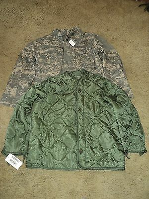Us Army Issue Acu M65 Field Jacket W/liner Large Reg Nwt