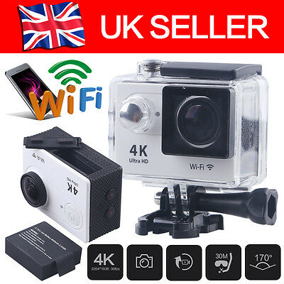 Professional 4K 2'' WIFI 1080P Ultra HD Sports DV Action Camera Helmet Bikes Cam