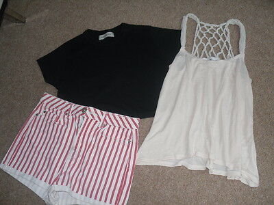 Topshop & River Island summer bundle size 10 tops shorts