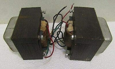 Pair Vintage Tube Amp Output Transformer Push Pull Hammond Tone Cabinet