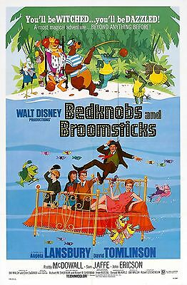 Bedknobs And Broomsticks Laminated Mini Movie Poster Disney A4 Print