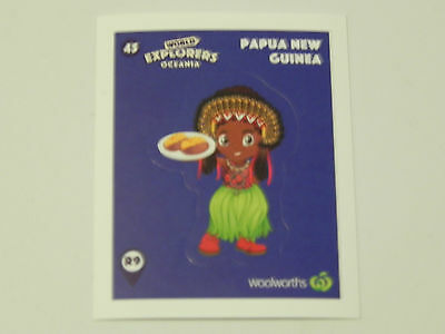 Woolworths World Explorers Sticker #45 Papua New Guinea