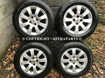 "Genuine 15"" Vauxhall Astra H Mk5 4 Stud Alloy Wheels With Tyres Combo Van Corsa"