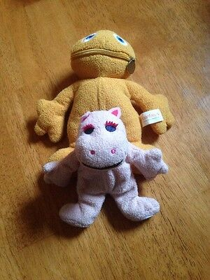 """Retro Zippy And George Rainbow Plush Collectable 10"""" And 6''Thames Tv"""